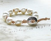 Mermaid's Pearls Hand Knotted Leather Pearl Bracelet