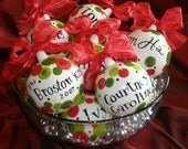 Hand Painted Personalized CHRISTMAS ORNAMENT