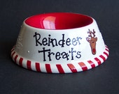 Treats for Rudolph Hand Painted Bowl