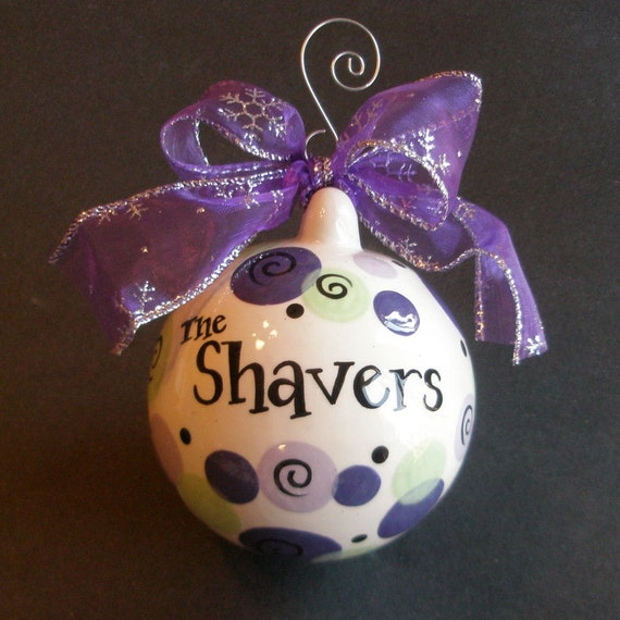Personalized Christmas Ornament - Hand Painted