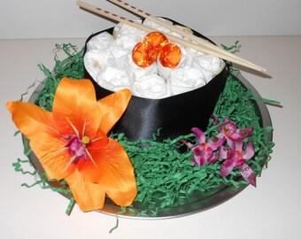 Mini Sushi Diaper Cake