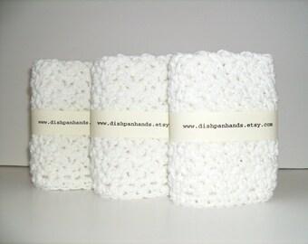 3 Dishcloths / White