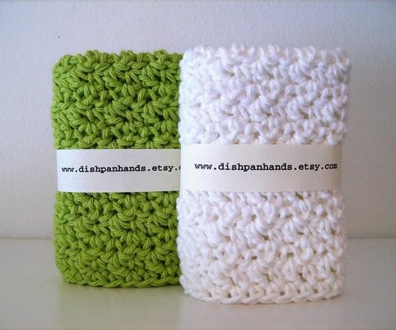 Dishcloth's / Washcloths - Green and White