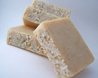Oatmeal Honey Soap - handmade with cocoa butter, Unscented