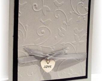 simple elegance with love and charm Blank CARD