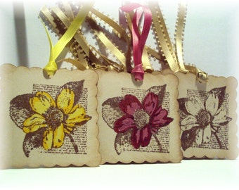 A Hint of Color from a Vintage Garden gift TAGS