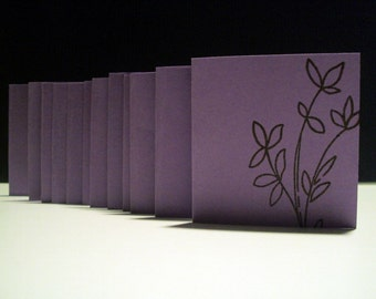 Purple  Foliage mini note CARDS