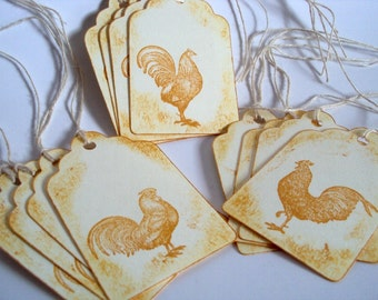 Morning Call Country Roster Gift TAGS set of 12