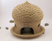Toad Hall Lantern for the Table, Contemporary Woodland Decoration - Ready to Ship