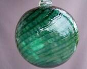 Blown  Glass Christmas Ornament/Ball/Suncatcher -Beryl Green