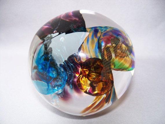 Hand Blown Art Glass Paperweight