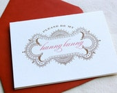 Pretty In Red- 2 color letterpress printed folded card