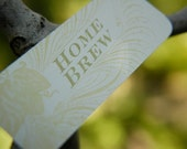 Letterpress Printed Tags For Beer QTY//8