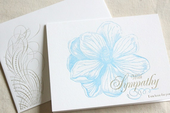 SALE I Am Here For You- Letterpress Printed Single Blank Card