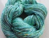 Handspun and hand dyed Merino\/Silk yarn