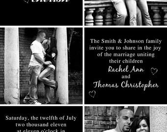 Love Honor Cherish Wedding Invitation Photocard