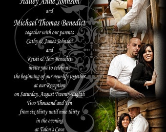 Flourish Wedding Invite Photocard