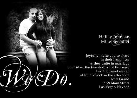 We Do Wedding Invitation Photocard