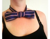 Woman's retro silk necktie