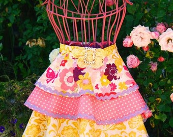 Twirling Layers,Tea Party Apron Pattern ADULT AND CHILD
