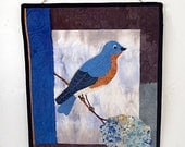 50% OFF Quilted Wallhanging of Bluebird with Hydrangea