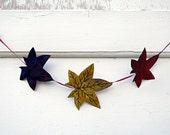 Fall Sugar Gum Leaves Garland Fabric Leaf Home Decor