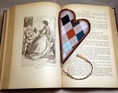 CLEARANCE Valentine Heart Bookmark, Argyle