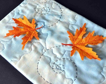 Fall Quilted Orange Leaf Maple Leaves