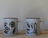 50% off sale - pair of vintage Japanese mugs