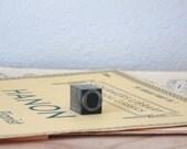 vintage letter press block - O
