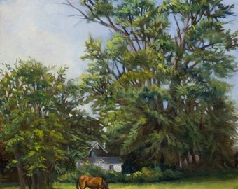 Grazing Under the Tall Trees