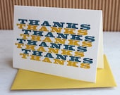 Graphic thank you notes,  set of six