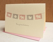 Baby Flags Contratulations Card