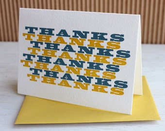 Graphic thank you notes,  set of six / SALE!!
