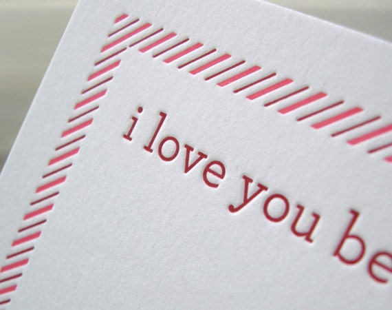 Say I LOVE YOU Six Times - Letterpress Valentine Cards (set of six)