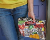 Reserved for T. Whimsical UpCycled Handbag in Primary Colors