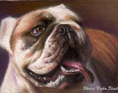 """Custom Commissioned  Dog Pet Portrait 8"""" x 10"""" Pastel Painting-1 Subject-Matted Ready to Frame"""