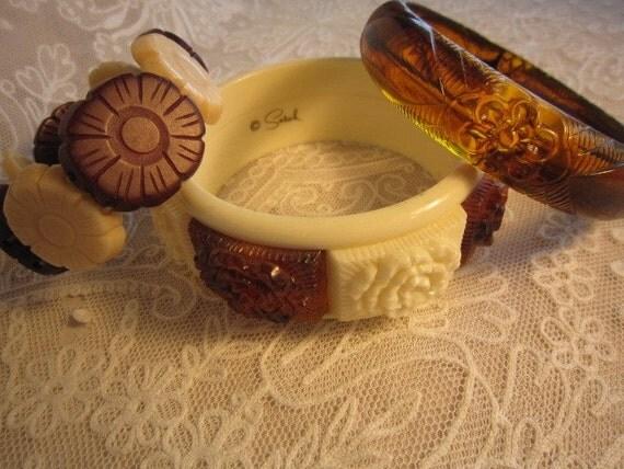 Fun 3 Pc Vintage Bracelet Set Lot