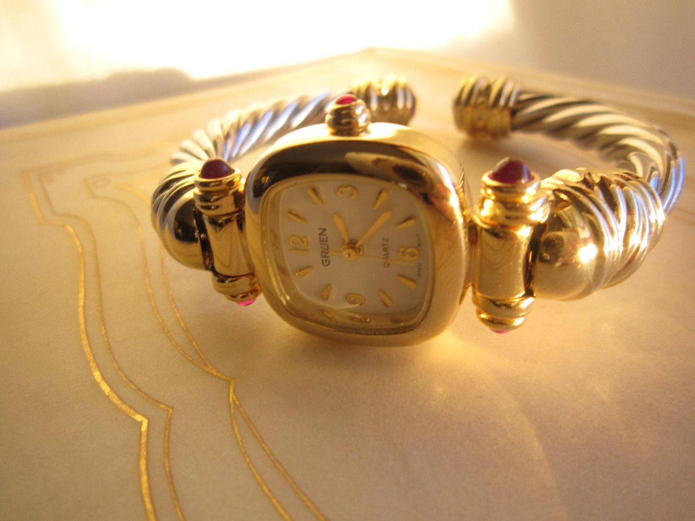 vintage gruen watch. Black Bedroom Furniture Sets. Home Design Ideas