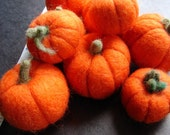 Thanksgiving pumpkin needle felted holiday display, this set of 9 needle felted decorative pumpkins you can create a charming display