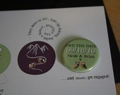 Eco-Friendly Custom Save the Dates with 1 button magnet (sample)