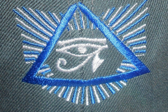 Fitted Flat-Brim Hat Eye of Horus Triangle Eye Of Horus In Triangle