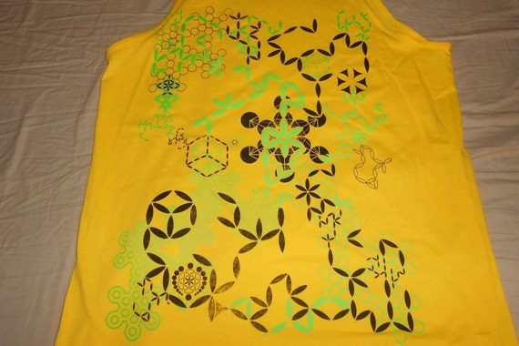 Men's Tank Top - Plant of Life (Yellow)