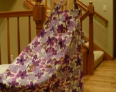 Nursing Cover (Purple Flowers)