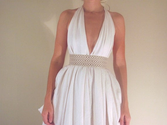 Signature Couture Halter in White Linen (or color of choice)
