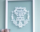 Papercut for Mothers / Grandparents, gift for mom, gift for mum, mothers day gift, gift for grandma