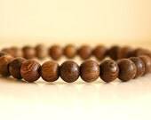 Mens Beaded Bracelet, Wood Bead Bracelet, Unisex Beaded Bracelet, Wood Beads, Boho Bead Bracelet
