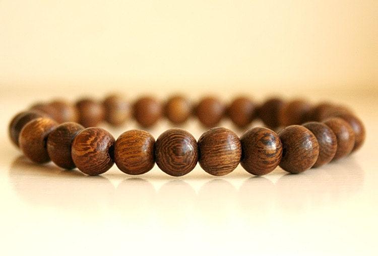 mens beaded bracelet wood bead bracelet unisex beaded. Black Bedroom Furniture Sets. Home Design Ideas