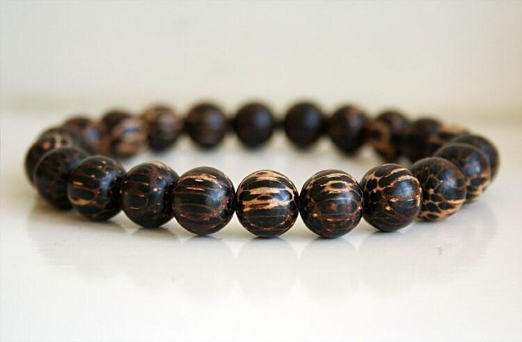 wood bead bracelet beaded bracelet mens beaded by binichohan. Black Bedroom Furniture Sets. Home Design Ideas