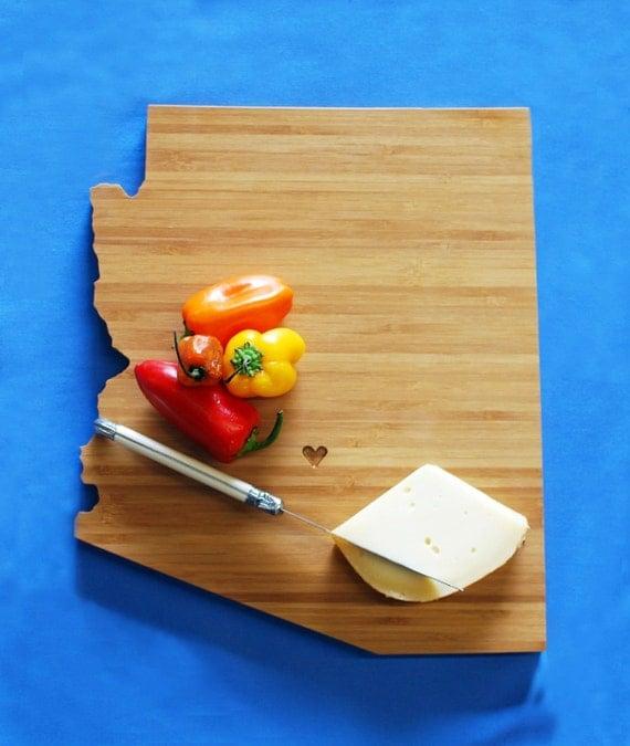 aheirloom 39 s arizona state shaped cutting board by aheirloom. Black Bedroom Furniture Sets. Home Design Ideas